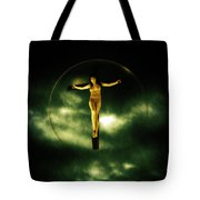Bubble Crucifix Tote Bag