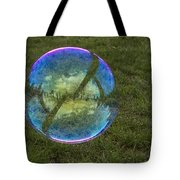 Bubble On Grass With St.johns Bridge Tote Bag