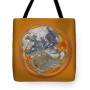 Bubble Out Of Orange Orb Tote Bag