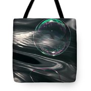 Bubble Over Black Waters Tote Bag