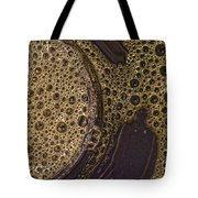Bubbles And Metal Abstract Tote Bag