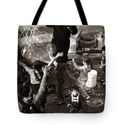 Bubbles And Kids - Central Park Sunday Tote Bag
