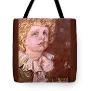 Bubbles Pastel Portrait Tote Bag