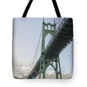 Bubbly St.johns Bridge Tote Bag