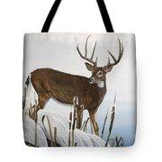 Buck At Waters Edge Tote Bag