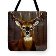 Buck On Slate  Tote Bag