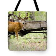 Buck Wagon Tote Bag