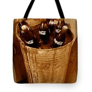 Bucket Of Iced Cold Coca Cola Tote Bag
