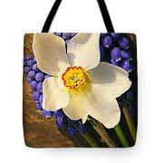 Buckeye And Grape Hyacinth Tote Bag