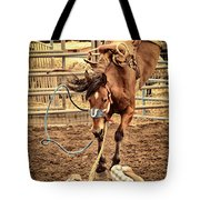 Bucking Tote Bag by Caitlyn  Grasso
