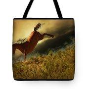 Bucking Horse Tote Bag