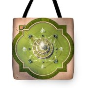 Buckingham Fountain From Above Tote Bag