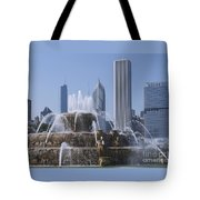 Buckingham Fountain Revisited Tote Bag