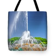 Buckingham Fountain Spray Tote Bag