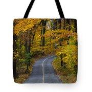 Bucks County Road In Autumn Tote Bag
