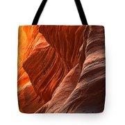 Buckskin Gulch Slot Canyon Fire Tote Bag