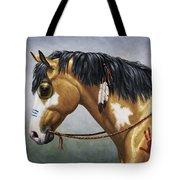 Buckskin Native American War Horse Tote Bag
