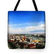 Budapest And Blue Danube Tote Bag