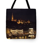 Budapest At Night Tote Bag