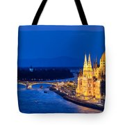 Budapest By Night Tote Bag