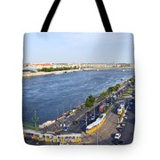 Budapest Street Traffic In Hungary Tote Bag