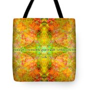 Budda Quote On Life Tote Bag