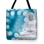 Buddha Enlightenment Blue Tote Bag