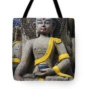 Buddha Figure In Kathmandu Nepal Tote Bag