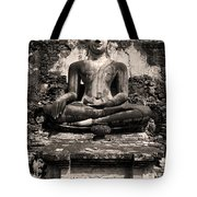 Buddha In Meditation Statue Tote Bag