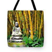 Buddha In The Bamboo Forest Tote Bag