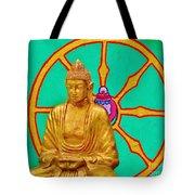 Buddha In The Grove Tote Bag