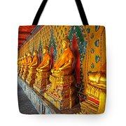 Buddhas At Wat Arun, Bangkok Tote Bag