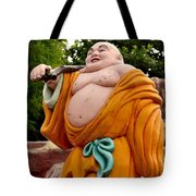 Buddhist Monk On Journey Haw Par Villas Singapore Tote Bag