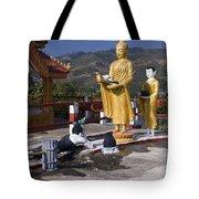 Buddhist Statues Tote Bag