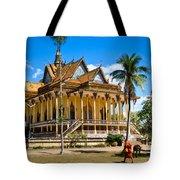 Buddhist Temple In Kratje - Cambodia Tote Bag