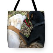 Buddies Sharing Tote Bag