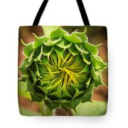 Budding Sunflower Tote Bag