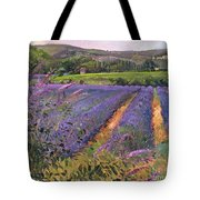 Buddleia And Lavender Field Montclus Tote Bag