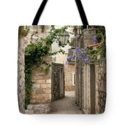 Budva Old Town Cobbled Street In Montenegro Tote Bag