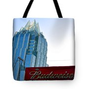 Budweiser And Building  Tote Bag