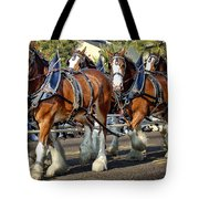 Budweiser Clydesdales Tote Bag