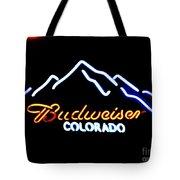 Budweiser In Colorado Tote Bag