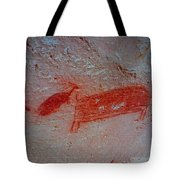 Buffalo And Elk Cave Painting Tote Bag