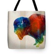 Buffalo Animal Print - Wild Bill - By Sharon Cummings Tote Bag
