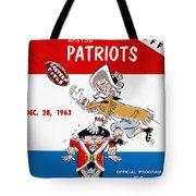 Buffalo Bills 1963 Playoff Program Tote Bag