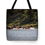 Buffalo Crossing - Yellowstone National Park - Wyoming Tote Bag