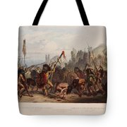 Buffalo Dance Of The Mandan Indians Tote Bag
