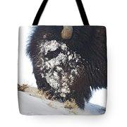 Buffalo Eating   #9634 Tote Bag