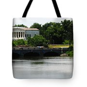 Buffalo History Museum And Delaware Park Hoyt Lake Oil Painting Effect. Tote Bag