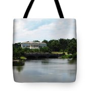 Buffalo History Museum And Delaware Park Hoyt Lake Oil Painting Effect Tote Bag